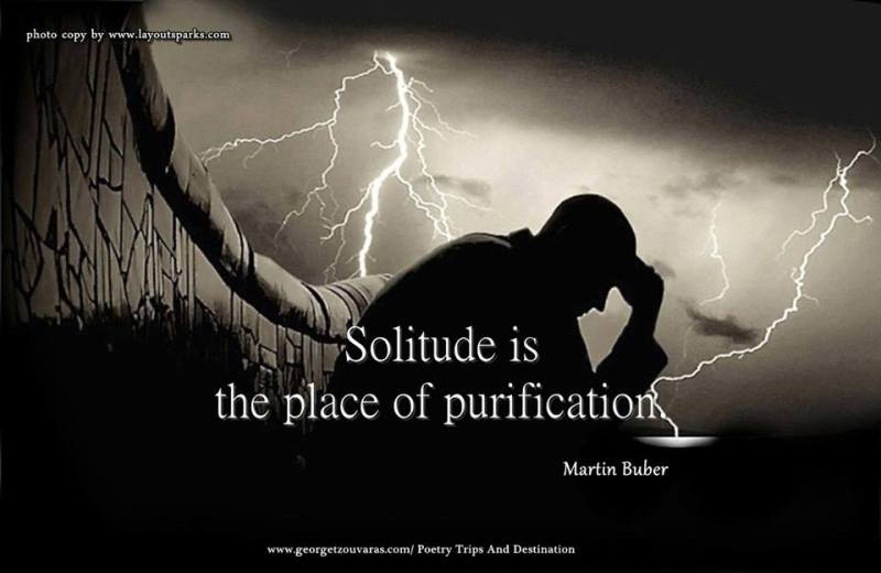 Even in the solitude of our pain, God is there.